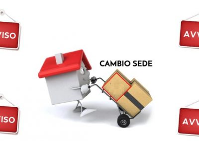 AVVISO IMPORTANTE – CAMBIO SEDE UFFICIO
