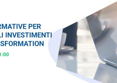 """INVITO AL WEBINAR: """"Le novità normative per finanziare gli investimenti di digital trasformation"""""""